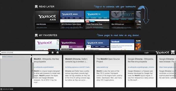 Axis, el nuevo navegador web de Yahoo! - Axis-home