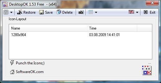 DesktopOK guarda la posición exacta de tus iconos - DesktopOK-
