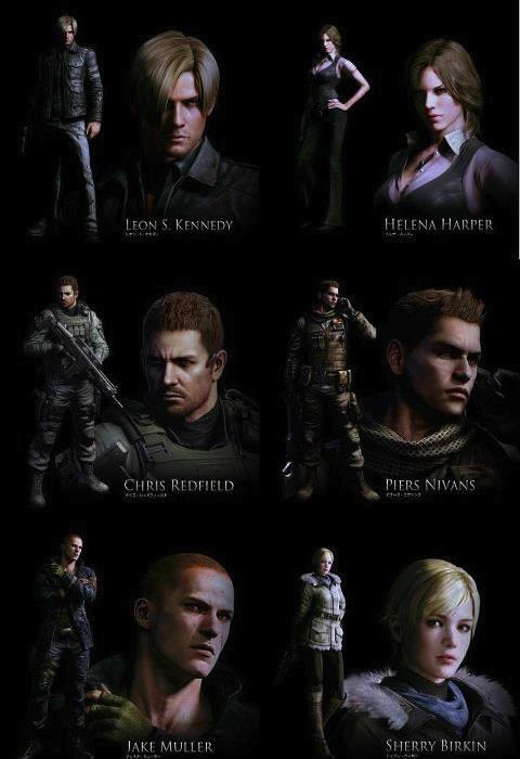 Nueva imagen de Resident Evil 6 con los principales protagonistas del juego