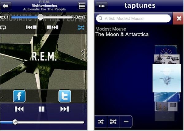 Taptunes reproductor musical ios TapTunes, un reproductor musical para iOS diferente