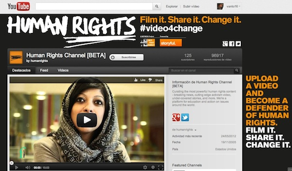 Youtube canal derechos humanos Humans Rights, el nuevo canal de Youtube enfocado a los derechos humanos