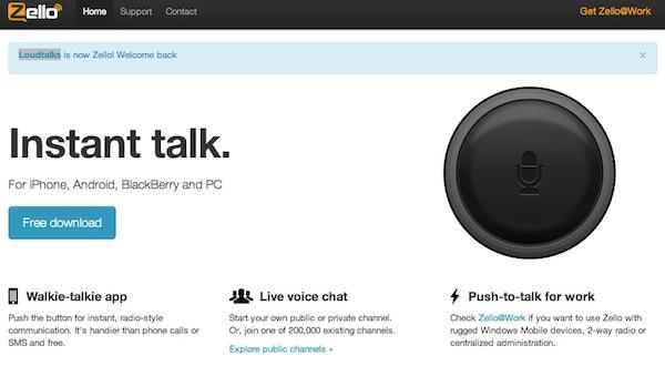 LoudTalks ahora se llama Zello y se convierte en multiplataforma - Zello-walkie-talkie-app