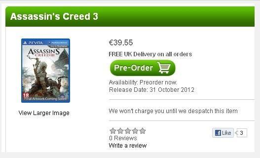 Assassin's Creed 3 estaría disponible para PS Vita - ac3-ps-vita