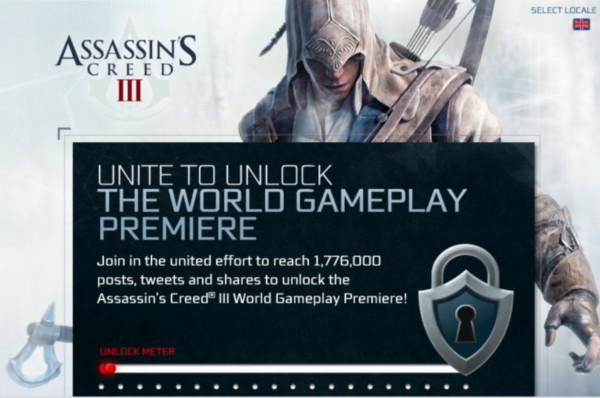 Primer video del gameplay de Assassin's Creed 3, ayuda a desbloquearlo - assassins-creed-3-gameplay