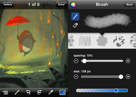 apps para dibujar en tu iPhone o iPod Touch - brushes-iphone-edition