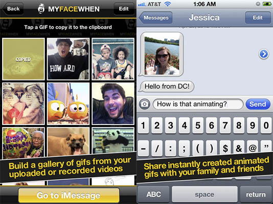 Crear Gifs animados en el iPhone con MyFaceWhen - crear-gifs-iphone-myfacewhen