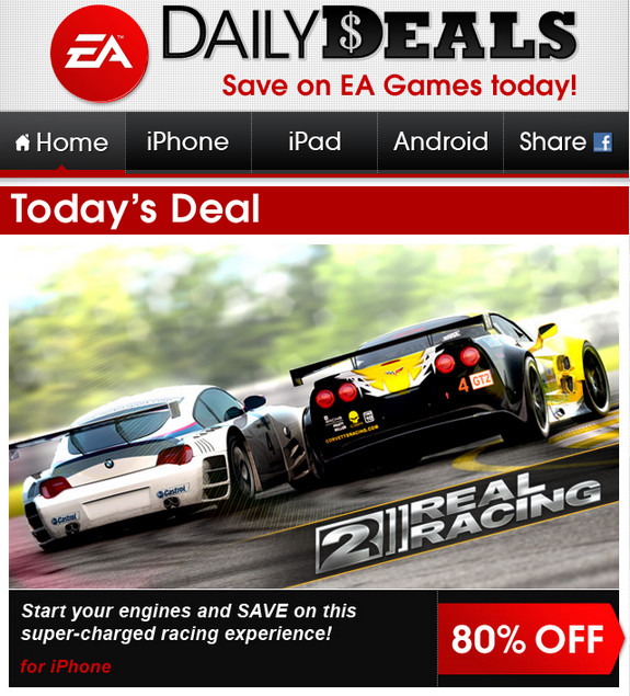 EA tiene rebajas de hasta 85% de descuento en juegos de iPod-iPhone-iPad - daily-deals