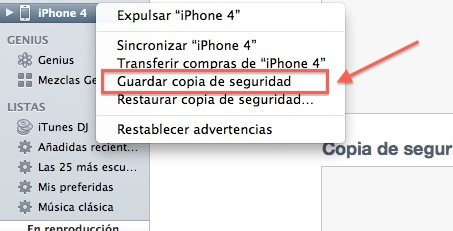desactivar copia seguridad automatica itunes Cómo deshabilitar la copia de seguridad de iTunes al conectar un dispositivo con iOS [MAC]