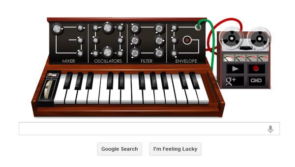 Google honra a Robert Moog con un genial Doodle musical - google-doodle-moog