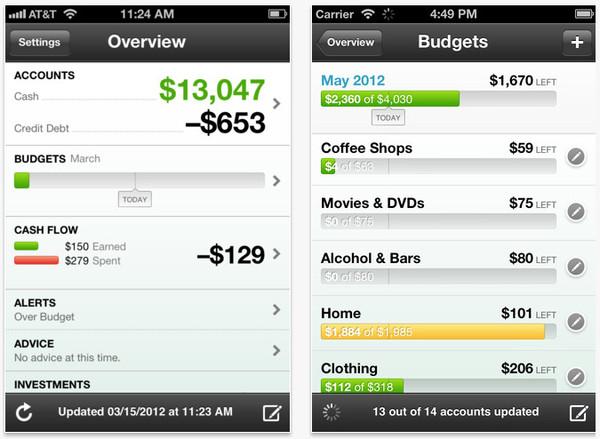 mint ios Controlar gastos y finanzas en tu celular