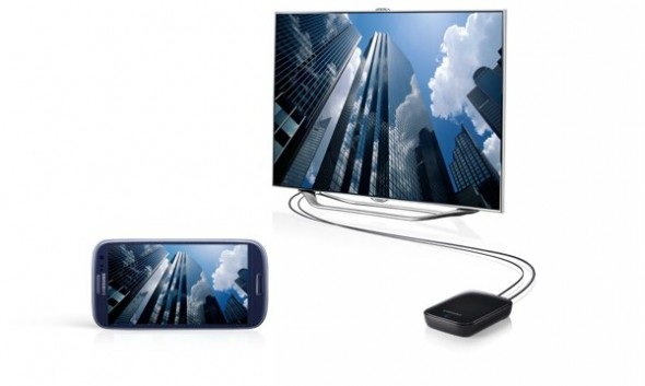 Estos son los accesorios oficiales del Galaxy SIII - samsung-galaxy-s3-allshare-cast-dongle1-590x353