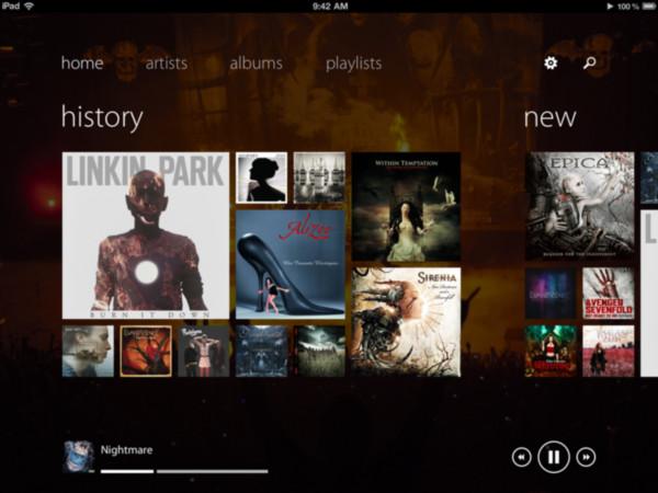 Track 8, reproductor de música para iPad con interfaz Metro - track-8-ipad