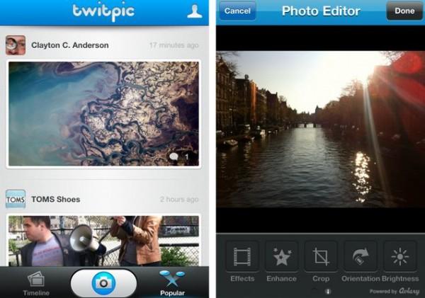 twitpic aviary Twitpic lanza aplicación para iPhone con editor de fotos integrado