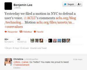 Piden a Twitter nombres y datos de participantes en Occupy Wall Street