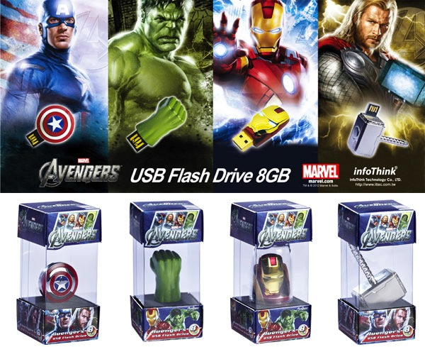 Impresionantes USB de The Avengers - usb-the-avengers