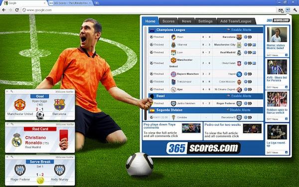 Consulta resultados en vivo de tus deportes y equipos favoritos con 365 Scores