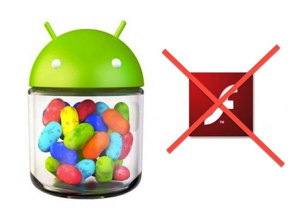 Android dejará de dar soporte a Flash en su versión 4.1 Jelly Bean - Android-4-1-jelle-bean-flash