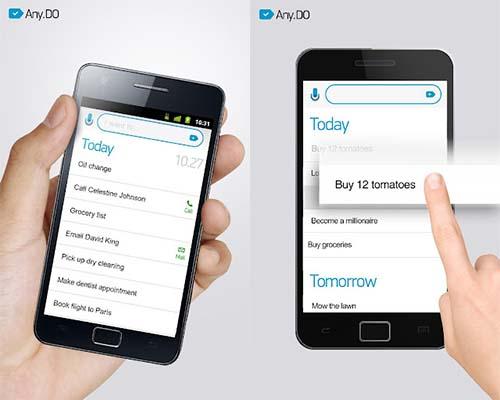 Any.DO, el gestor de tareas multiplataforma definitivo - Andy-do-android-app