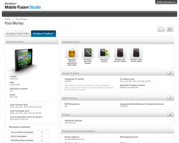 BB mobile fusion 2 590x470 Presentan BlackBerry Mobile Fusion