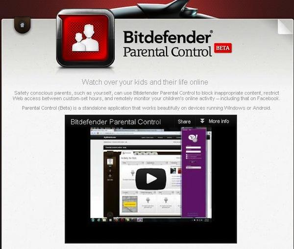 Bitdefender Control Parental Bitdefender presenta la versión beta de su control parental