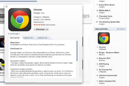 Google Chrome para iOS se coloca en el número 1 del Top de Descargas en su primer día - Captura-de-pantalla-2012-06-29-a-las-20.15.14