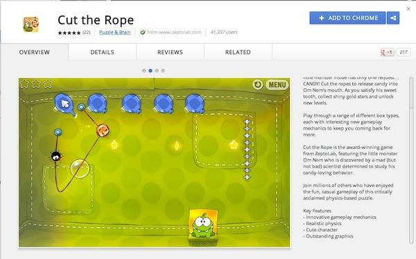 Cut the Rope disponible en la Chrome Store - Cut-the-rope-chrome