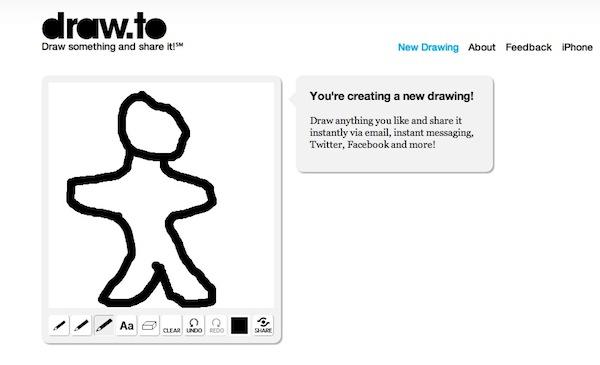 Crear dibujos y enviarlos a nuestros amigos con Draw.to - Draw-to-crear-dibujos
