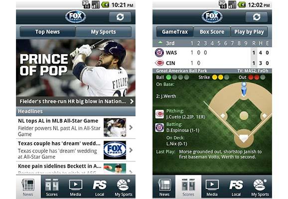 Ver resultados en vivo de tus equipos favoritos con Fox Sports Mobile - Fox-sports-app-android
