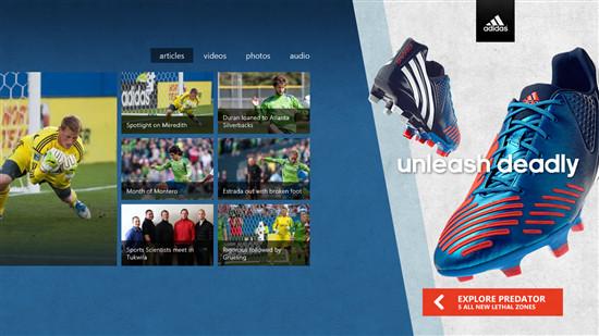 adidas microsoft ads Se muestra como funcionaría la publicidad dentro de las apps Metro en Windows 8