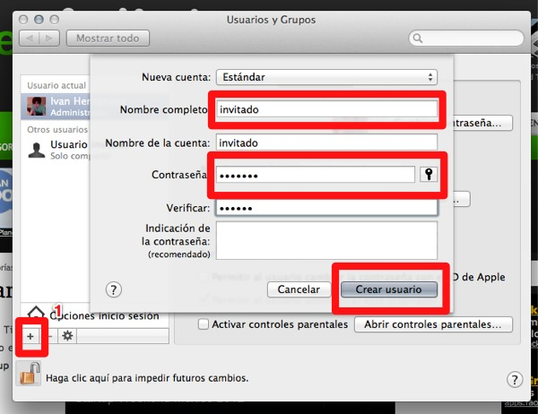 Cómo crear más cuentas de usuario en Mac - agregar-usuarios-mac-3