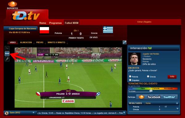 eurocopa en vivo Ver la Eurocopa 2012 en línea