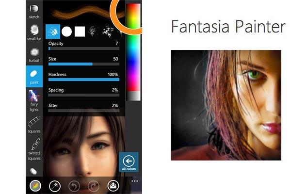 Retocar fotos profesionalmente en Windows Phone con Fantasia Painter Free - fantasia-painter-free