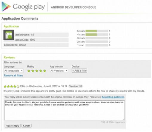 google play comments Desarrolladores de Android ya pueden responder comentarios en sus apps de Google Play