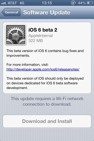 Segunda beta de iOS 6 es publicada por Apple - ios-6-beta-2