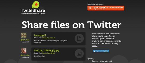 Comparte archivos en Twitter con Twileshare - twileshare