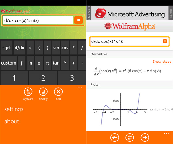 Wolfram Alpha+ disponible en Windows Phone - wolfram-alpha+