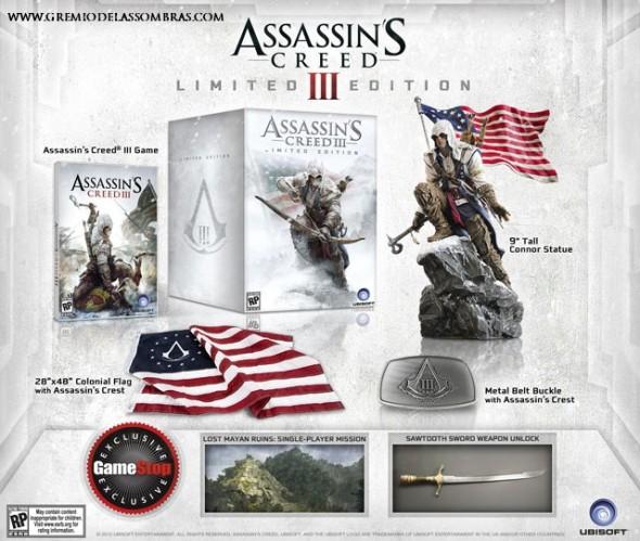 Assassin's Creed III Edición Limitada es presentada por Ubisoft - AC3LimitedEdition-590x499