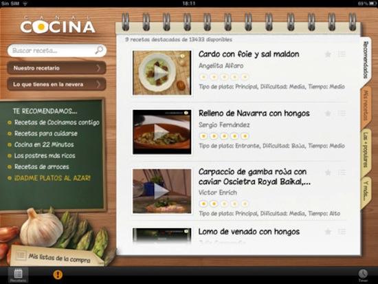 Apps para cocinar con la ayuda de tu smartphone o tablet - Canal-cocina-ios