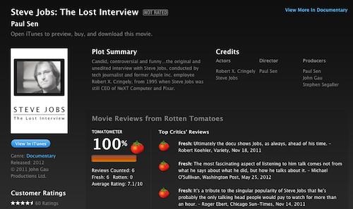 La Entrevista Pérdida de Steve Jobs disponible en iTunes, pero solo para Estados Unidos - Captura-de-pantalla-2012-07-04-a-las-12.52.51