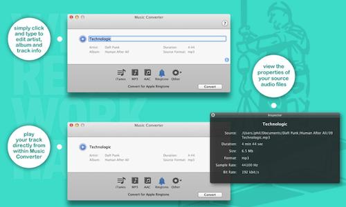 Captura de pantalla 2012 07 21 a las 18.33.14 Music Converter, un sencillo y gratuito convertidor de audio en tu Mac