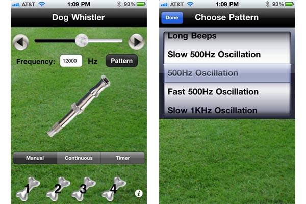 Dog whistler ios android Apps para el cuidado de tu mascota