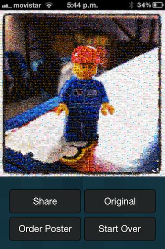 Photo Mosaica, realiza divertidos mosaicos de tus fotografías utilizando en tu iPhone