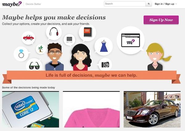 Maybe Maybe, la red social que nos ayuda a tomar decisiones de compra
