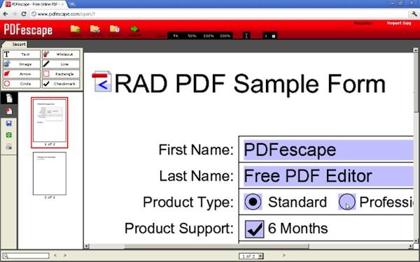 Editar PDF en Chrome con PDFescape - PDFescape