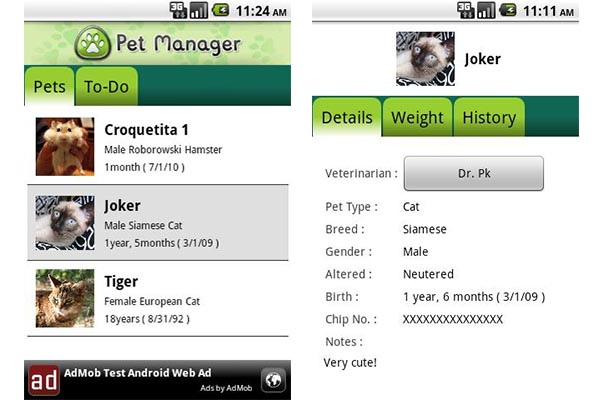 Pet manager free Apps para el cuidado de tu mascota