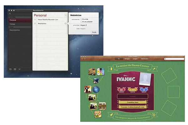 OS X 10.8 Mountain Lion, uno de los mejores sistemas operativos de Apple [Reseña] - Recordatorios-Game-Center