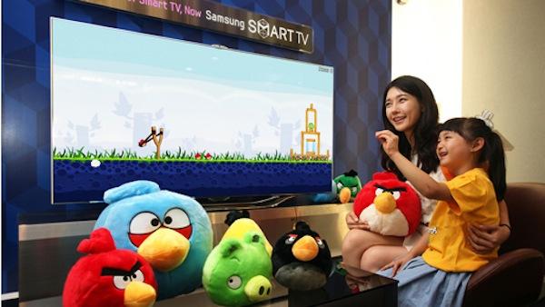 Samsung presenta una nueva Smart TV con reconocimiento de voz y gestos con Angry Birds - Samusng-smart-tv-angry-birds