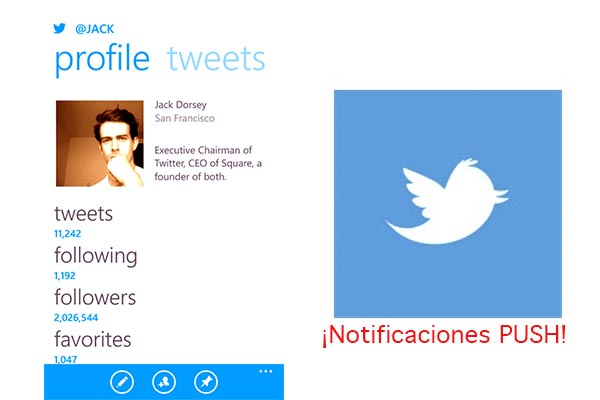Twitter Windows Phone Twitter para Windows Phone ya tiene notificaciones Push
