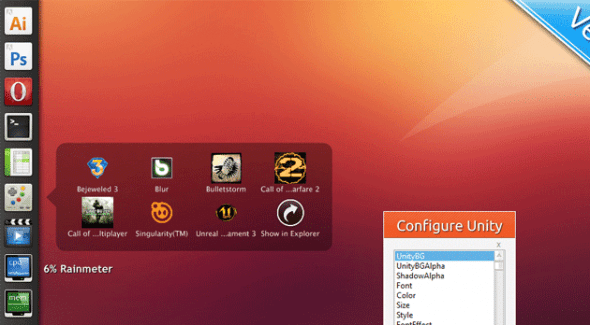 Unity 590x325 Personaliza tu escritorio de Windows con estos skins de Rainmeter