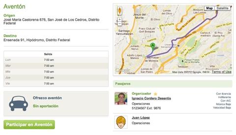 aventones startup Aventones, comparte tu auto con personas que se dirijan a tu misma ruta